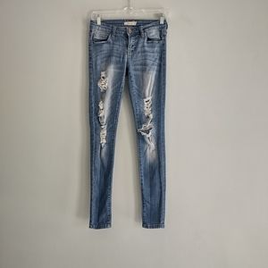 Cello Distressed Light Wash Skinny Jeans Size 0
